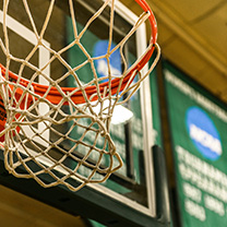 Draddy Gym basketball hoop