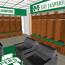 Rendering of Gaelic Park project interior