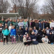 Students and faculty at fun run