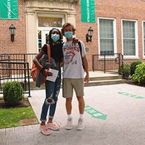 Students in masks on first day of classes